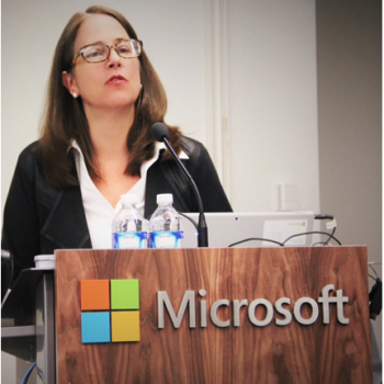 Adrienne Hand speaks at Microsoft